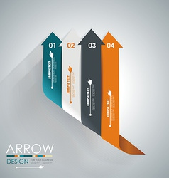 Abstract paper cut arrow background Can be used vector image
