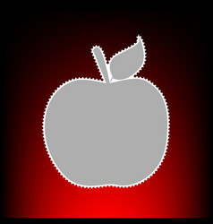 apple sign postage stamp or old vector image