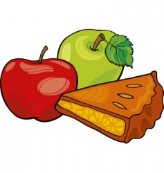 Apples and apple pie vector