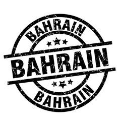 Bahrain black round grunge stamp vector