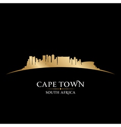 Cape Town South Africa city skyline silhouette vector image