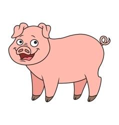 Cartoon pig vector image vector image