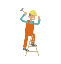 Character construction worker vector