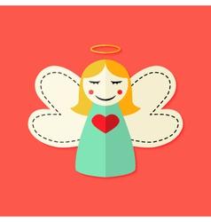 Christmas angel flat icon vector