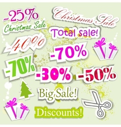 christmas sale elements vector image vector image