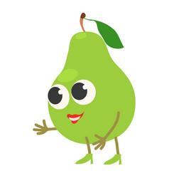 cut pear icon cartoon style vector image