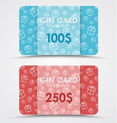 Design gift cards vector image vector image