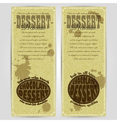 Dessert menu design rgb vector