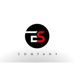 es logo letter design vector image vector image
