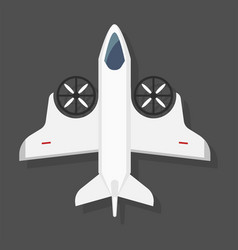 fast airplane plane top view vector image vector image