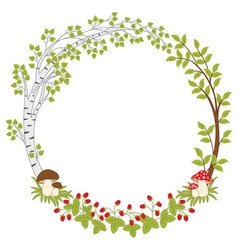 Forest wreath vector