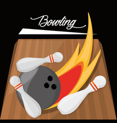 Fun bowling sport play game vector