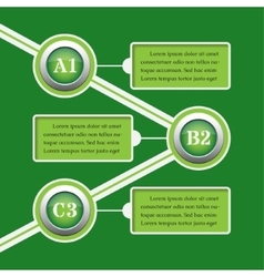 Green infographic banners - design templates vector