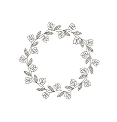 Hand-drawn floral frame made in vector image vector image