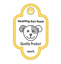 Healthy pet food label vector