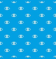 Human eye pattern seamless blue vector