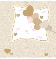 Love heart invitation card vector image vector image