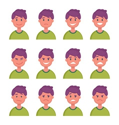 Set of Cartoon Character Faces with Different vector image