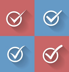 Set of check mark check box icons vector