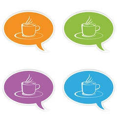 Speech bubbles with cup vector