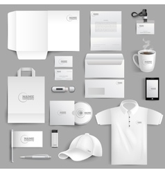 Stationery Set Realistic vector image vector image