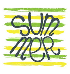 Summer background green yellow vector