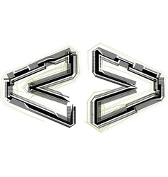 Technological font symbol vector