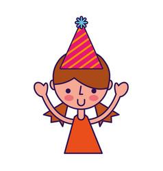 Upperbody party girl cartoon vector