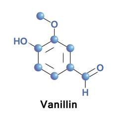 vanillin is a phenolic aldehyde vector image vector image