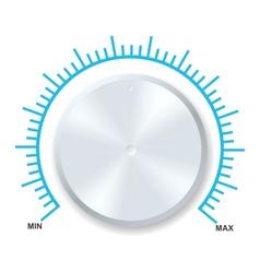 volume balance knob vector image vector image