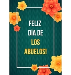 Happy grandparents day greeting card spanish vector
