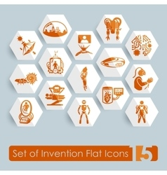 Set of invention icons vector