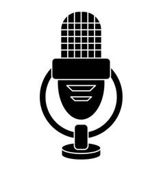 retro microphone voice icon pictogram vector image