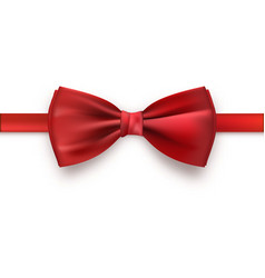 Realistic red bow tie vector