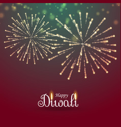 festival of lights happy diwali greeting with vector image