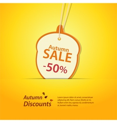 Autumn acorn discount label vector