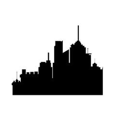 silhouette building urban skyline panorama vector image