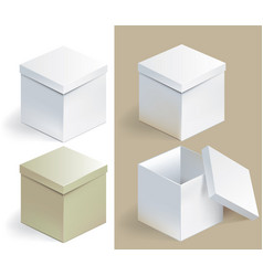 empty sqare box vector image