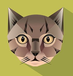 Cat face icon vector