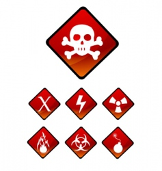 Warning sign icons vector