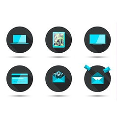 Set of stylish icons vector