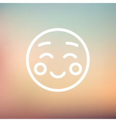 Overjoyed thin line icon vector