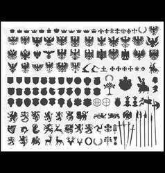 Heraldic silhouettes vector