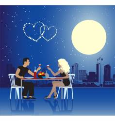 valentine day urban scene couple vector image