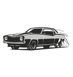black muscle car vector image