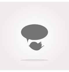 isolated internet web icon with bird and vector image