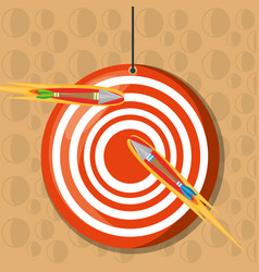 Arrow target competition play game vector