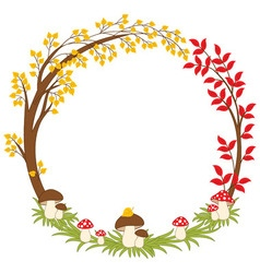 Autumn Forest Wreath vector image vector image