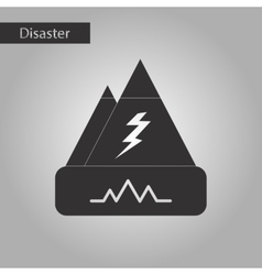 Black and white style icon disaster earthquake vector