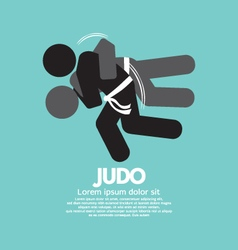 Black Symbol Judo Fighter vector image
